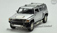 Wholesale Model Hummer Car Toys - 1:32 Alloy Diecast Car Model For Hummer H3 Toy Collection Power Pull Back With Sound&Light - Silver   Red   Yellow   Black