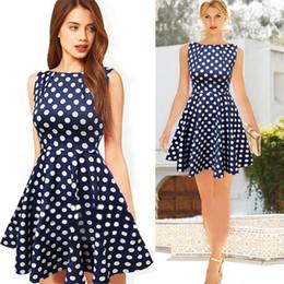 Wholesale Dropshipping Dresses - British Style A-Line Dresses Polka Dot Slim Plus Size Elasticity New Fashion Women's Clothing High Quality Dropshipping S M L XL XXL