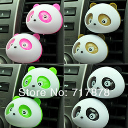 Wholesale Lovely Perfume - Wholesale-OP-20x Auto Dashboard Air Freshener blink Lovely Panda Perfume Diffuser for Car Free shipping