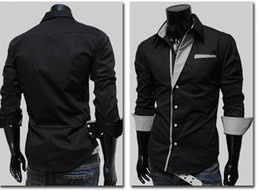 1cee6f69 NEW popular Men's Fashion Luxury Stylish Casual Designer Dress Shirt Muscle  Fit Shirts 4 color MM102