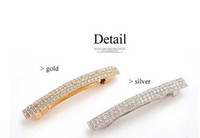 Wholesale Hair For Party Korean - New Korean lady fashion luxurious fully-jeweled rhinestone hairpins &Alloy hair clip for women hair #70214