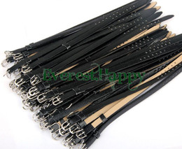 100pcs 8mm DIY pulsera de cuero PU negra pulsera de pulsera de una dirección BL11 fit 8mm slide slide and charms