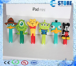 Wholesale Shaped Earphone - 2015 New- Free shipping lovely animal cable winding button shape machine   mobile earphone winder Free Shipping