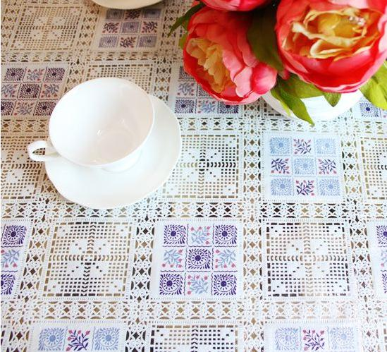 Baroque Style Retro Table Cloth Pvc Disposable Oil Plastic Lace Tablecloths  Tablecloths Round Table Coffee Table Cloth Plastic Round Tablecloths 120  Inch ...