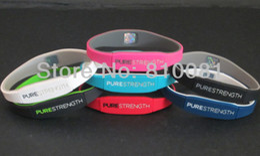 Wholesale Fresh Bracelets - Mix 7 colors 3 sizes Silicone endevr Pure Strength Balance Bracelets LifeStrength Fresh New Silicone Bands Wristband 10pcs