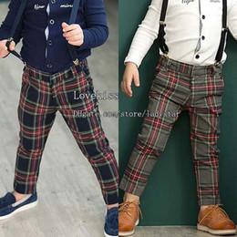 Wholesale Boys Gray Suspenders - Children Suspender Thouser Boys Clothes Child Casual Pants Fashion Long Trousers Braces Suspenders Boy Pants Kids Trouser Children Clothing