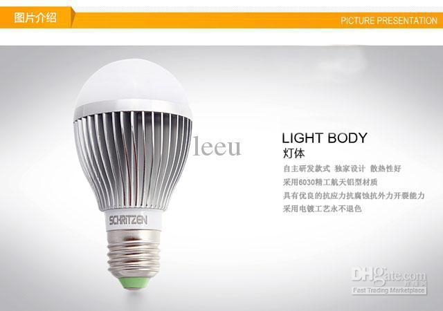 X10 Retail Dimmable Bubble Ball Bulb 85-265V 9W 12W 15W E14 E27 B22 GU10 High power lamp Globe light LED Lighting