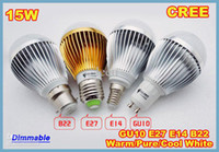 Wholesale cree e27 dimmable ball - X10 Retail Dimmable Bubble Ball Bulb V W W W E14 E27 B22 GU10 High power lamp Globe light LED Lighting