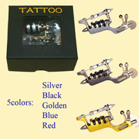 Wholesale Rotary Tattoo Machine Sunskin - Primus Sunskin Rotary Tattoo Machine With Taiwan Motor Precise 5 Colors Tattoo Kit Free Shipping