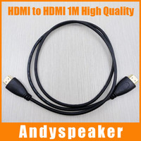 Wholesale Sg Black - 1M HDMI to HDMI Converter Cable Adapter Black HDMI Bi-directional Video Audio Cable SG Connector For HDMI