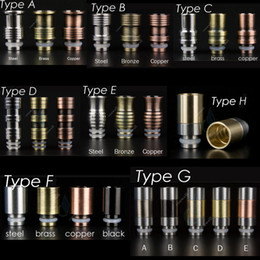 Wholesale Ego Ce4 Steel - Metal drip tips of copper brass stainless steel 8 types mods drip tip eGo 510 mouthpieces for e Cigarette Protank CE4 CE5 MT3 mods atomizers