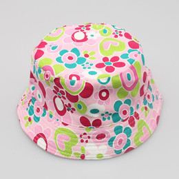 Wholesale Sun Hats Spots - 36 Color Spot explosion models hot sun flower pots child temperament casual sun hat wholesale children's hat