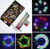 Wholesale Valve 32 Led - Colorful Rainbow 32 LED Bikes Bicycle Wheel Signal Lights Tire Wheel Valve Led Flash shining Light LED Cycling lamps