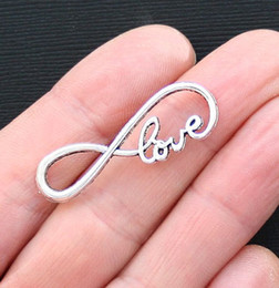 """Wholesale Infinity Love Pcs - FREE SHIPPING, SALE 50 pcs of 15mmx39mm Antique Silver   Bronze letter """"8"""" Infinity LOVE Connector Charm Love Infinite Pendant A701"""