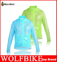 Cycling jacket waterproof thin France-WOLFBIKE Tour de France ultra-mince 100% coupe-vent imperméable Hommes Cyclisme Vélo Vélo Vêtements Veste Manteau de pluie qualité Jersey hight