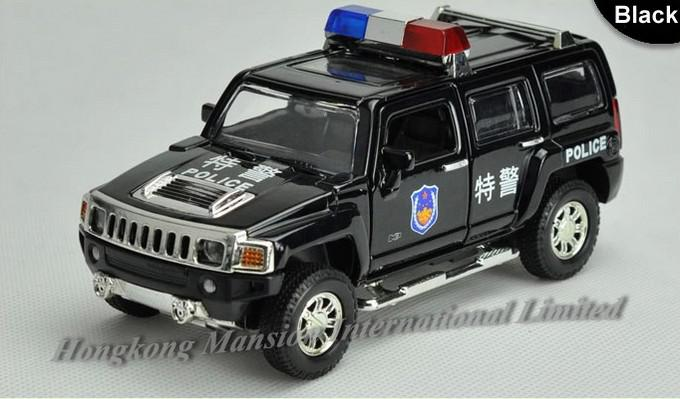 2019 1 32 Alloy Diecast Police Car Model For Hummer H3 Toy