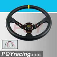 """Wholesale Steering Wheel 14 Inch - 14"""" 350MM OMP Steering Wheel PVC Leather Steering Wheel 14 Inch OMP Steering Wheel Deep Corn Dish Wholesale and Retailer"""