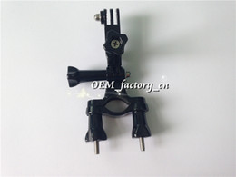Wholesale Bicycle Handlebar Clamps - Gopro Bicycle Handlebar Seatpost Pole Mount Holder Adapter Roll Bar Tube Clamp with Three-way Pivot Arm for Gopro HD Camera Hero 3 2 1