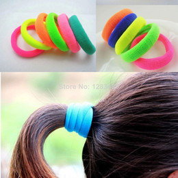 Wholesale Hair Tie Hairband Elastic - Girls Womens Elastic Hair Rubber Bands Fashion Sports Novelty Rubber Band Ties Hair Rope Seamless Hairband Multi Colors