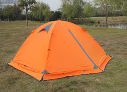 Wholesale Family Goods - Good quality Flytop double layer 2 person 4 season aluminum rod outdoor camping tent Topwind 2 PLUS .