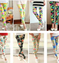 Discount skinny girl slim tights - Fashion Sexy Women Leggings Elastic printed Tights Girl Graffiti slim ninth pants capris skinny pants clothing
