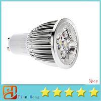 Wholesale 15w 5x3w - 3x Hot selling GU10 5X3W 15W Spotlight Led Light 110V-240V Warm White Led Lamp Led Bulbs 5-CREE LedS Good quality free ship
