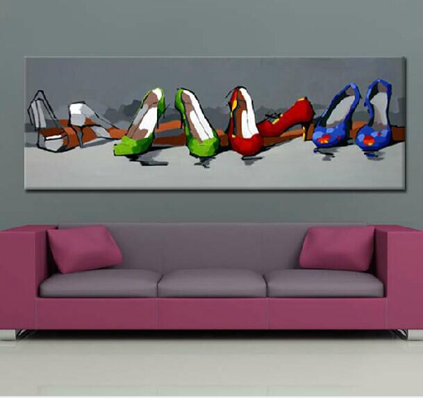 Famous Wall Art Picture Prints Hand Painted Abstract Decorated Paintings on Canvas No Frame Shoes Draw