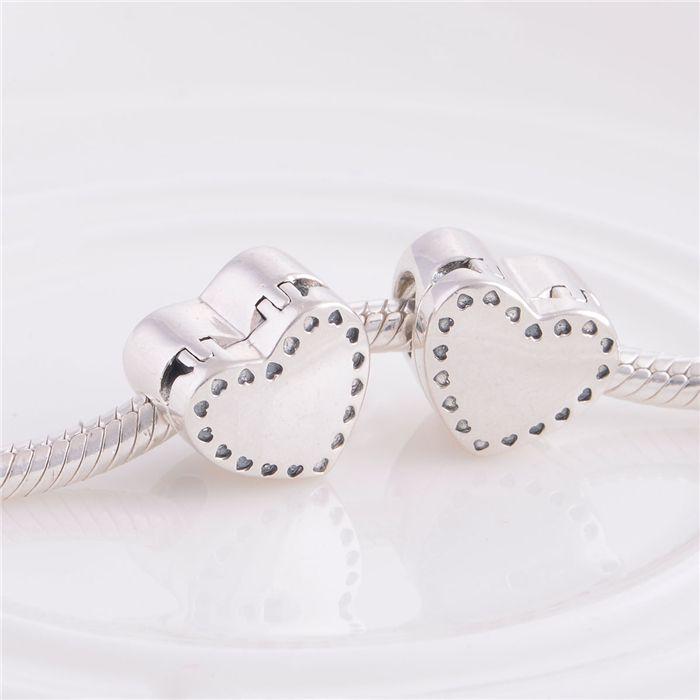 Echtes 925 Sterling Silber Perlen Charms Schmuck Passt Pandora Charm Armband DIY Machen Spieluhr Lose LW347
