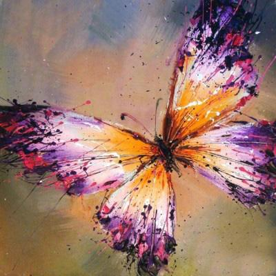 10% Discount Hand Painted Top Grade Abstract Animal Oil Painting on Canvas Beautiful Butterfly Art for Home Decoration or Gifts 1Panel