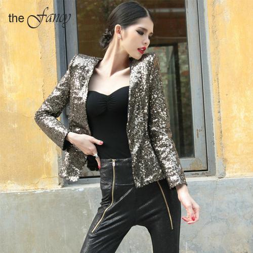 Black glitter jacket