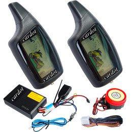 Wholesale Alarm System Remote Start - two way motorcycle alarm is with LCD alarm remotes audible and vibration alarm warning remote start stop engine anti-hijacking feature