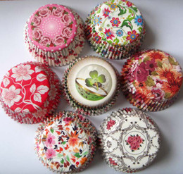 Wholesale Random Cupcake - 500pcs lot free shipping Wholesale - random 10 designs plain color ,polka dot,Wedding party baking cups cupcake liners muffin cases paper