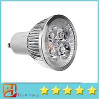 Wholesale High Power Cree 12w 4x3w - 10x GU10 12W 4x3W Led Lamp 85V-265 Spotlight CREE LED High Power Led Light Led Bulbs free ship