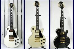 Wholesale White Guitar Gold Hardware - Custom Shop 1958 ebony fingerboard electric guitar gold hardware chrome Chinese China guitar Guitar Factory