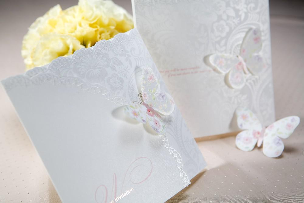 Hot Spring Butterfly Tri Fold Wedding Invitations Cards With – Butterfly Wedding Invitations Cheap