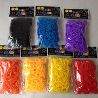 Wholesale Wholesale Fun Loom Bands - fun rubber bands Loom kit Solid color rubber band DIY Bracelet(600pcs+24 S+1 hook)7 color