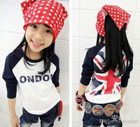 Wholesale Sold T Shirt For Children - Wholesale - 2014 best-selling British flag m word long-sleeved T-shirt for children