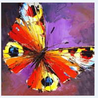Wholesale best impressionist paintings for sale - Group buy Hand Painted Classic Animal Oil Painting Butter Fly Wall Art Painting for Sofa Wall Decoration pc Best Gifts to Friends