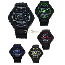 Аналоговые часы с несколькими тревогами онлайн-2014 новый стиль многофункциональный S-шок спортивные часы из нержавеющей стали Led аналоговый цифровой водонепроницаемый будильник наручные часы B12 SV000894