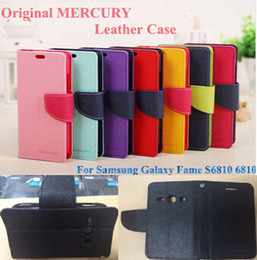Wholesale Galaxy Fame Case - Galaxy Fame S6810 Case Original Mercury Wallet PU Leather With Credit Card Slots For Samsung Galaxy Fame S6810 With Retail Package (A0031)