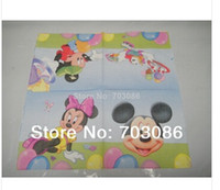 Wholesale mickey theme printing paper napkin serviette inch cm square birthday party festive supplies