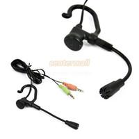 Wholesale Headphone Skype - New Single-Ear Headset Headphone Mic. microphone headset for Skype VoIP PC Laptop 8826