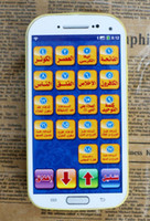 Wholesale Learn Arabic For Kids - 18 section Koran Arabic Language Learning Machine with light,toys phone educational toys for Muslim kids ,3 colors mixed