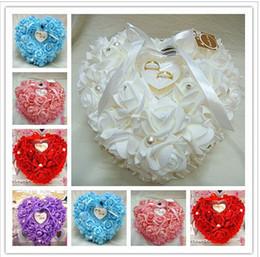 В форме сердца обручальное кольцо подушка обручальное кольцо коробка свадебные принадлежности основные бесплатная доставка