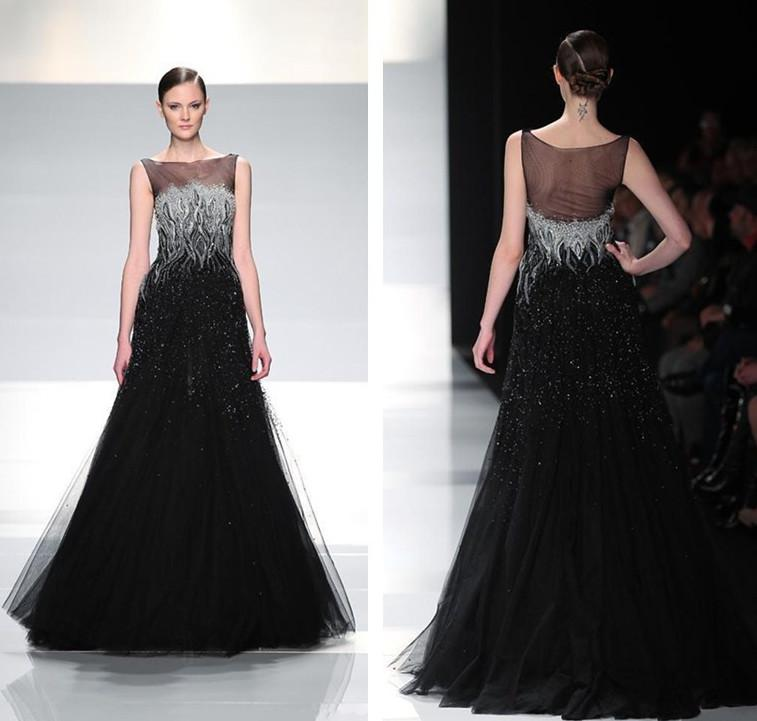 Outstanding Silver And Black Evening Gowns Embellishment - Top ...
