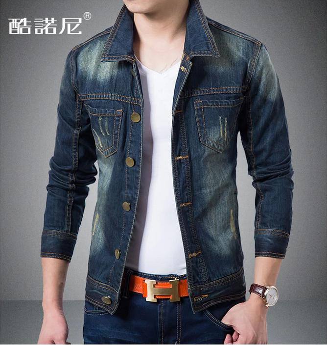 Hot Sale Autumn New Men Jean Jacket Spring And Autumn Leisure Men ...