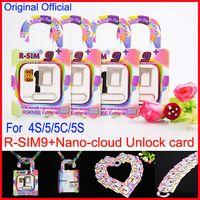 Wholesale original iphone5 - Original R-SIM 9+ R-SIM9+ plus Nano-cloud intelligent unlocked card RSIM9+ RSIM 9+ Unlock for iPhone5 5S 5C 4S iOS5.X 6.X 7.X Bata8.X