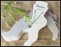 Wholesale Cardboard Tags Wholesale - Wholesale-OP-new specialty white cardboard fashion jewelry hang tags anklet card display cards,price tag label display hanging A1-022