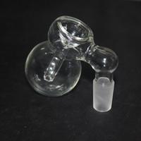 ingrosso due raccoglitore di coclea-Coppella in vetro multifunzione 14mm / 18mm Catcher di frassino e bicchiere di vetro Percolatore calabash Due dimensioni comuni Vetro Vetro narghilè Trasporto libero