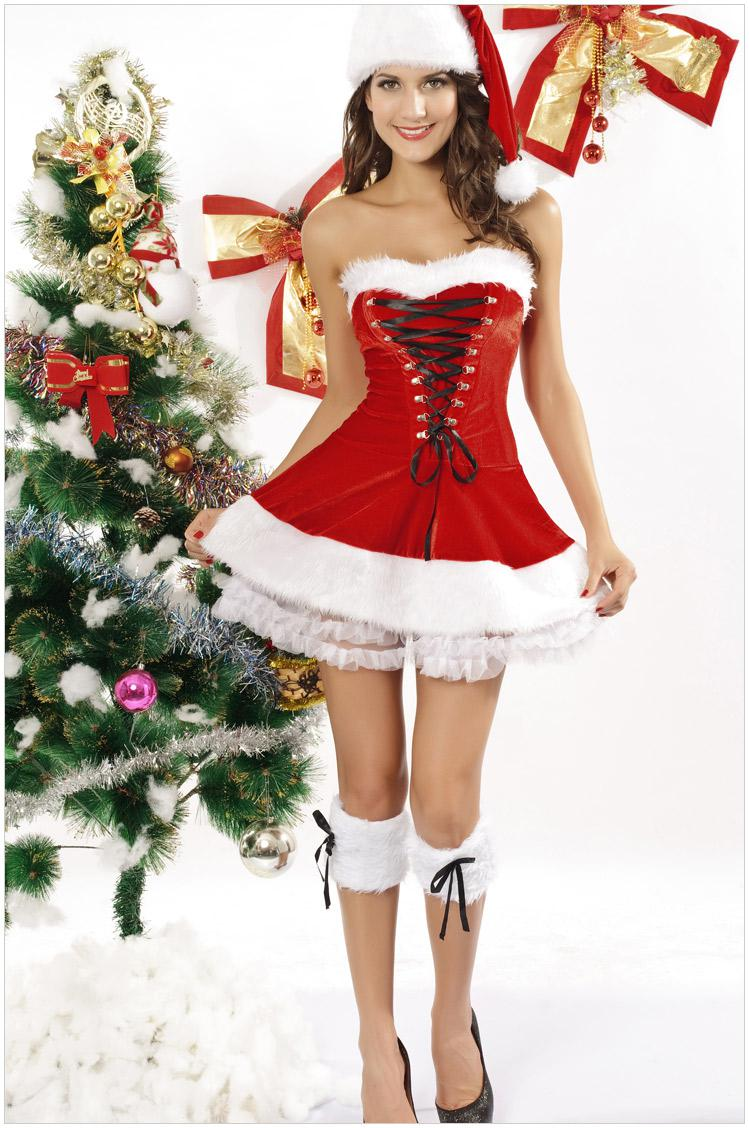 Christmas dress suit high quality rabbit velvet acrylic